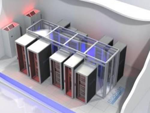 modulan Kaltgangeinhausung Rechenzentrum
